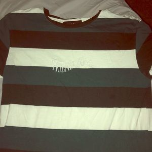 """ Friend zone"" striped shirt"